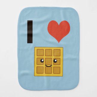 I love Waffles Burp Cloth
