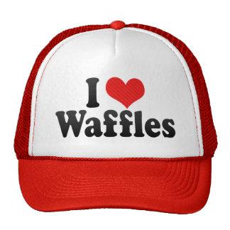 I Love Waffles Hats