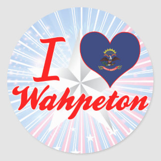 I Love Wahpeton, North Dakota Sticker