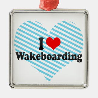 I Love Wakeboarding Christmas Ornament