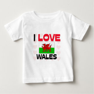 I Love Wales Baby T-Shirt