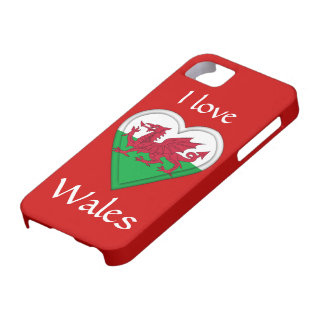 I love Wales Case For The iPhone 5