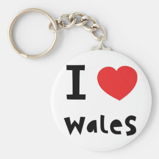 I love Wales Key Chains