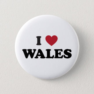 I Love Wales, United Kingdom 6 Cm Round Badge