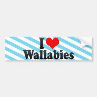 I Love Wallabies Bumper Sticker