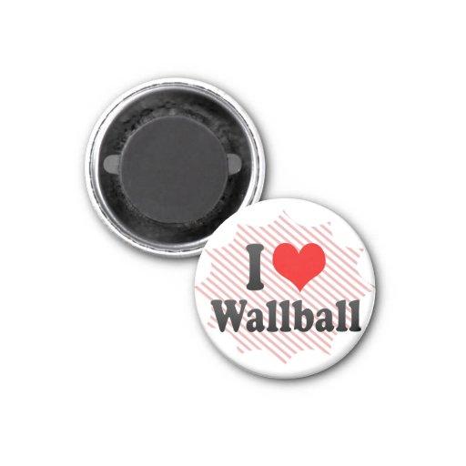 I love Wallball Refrigerator Magnets