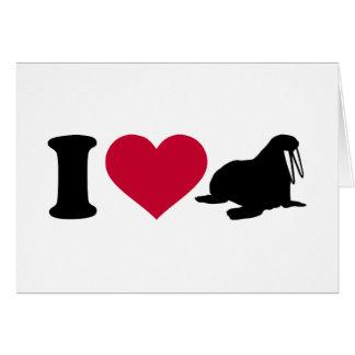 I love Walruses Greeting Card