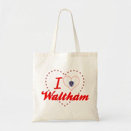 I Love Waltham, Massachusetts Tote Bag