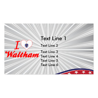 I Love Waltham, Massachusetts Business Card Template