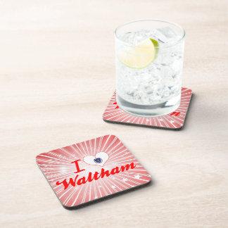 I Love Waltham, Massachusetts Drink Coaster