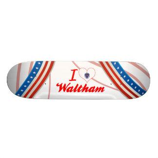 I Love Waltham, Massachusetts Custom Skate Board