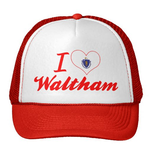 I Love Waltham, Massachusetts Trucker Hats