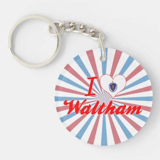 I Love Waltham, Massachusetts Key Chains