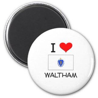 I Love Waltham Massachusetts Refrigerator Magnets
