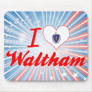 I Love Waltham, Massachusetts Mouse Pads