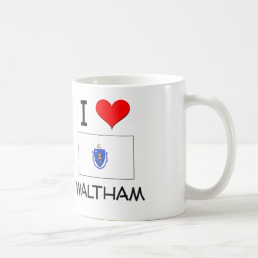 I Love Waltham Massachusetts Mugs
