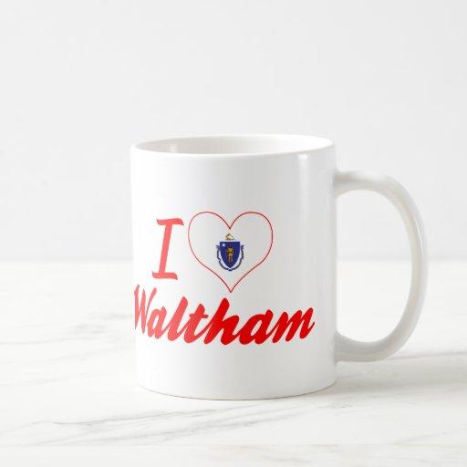 I Love Waltham, Massachusetts Coffee Mugs