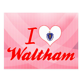 I Love Waltham, Massachusetts Post Card