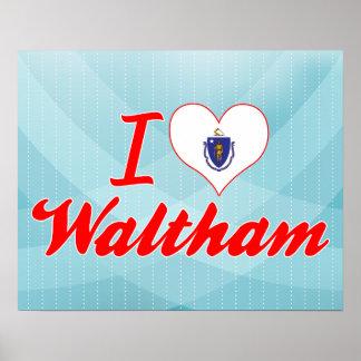 I Love Waltham Massachusetts Print