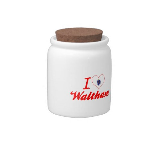 I Love Waltham, Massachusetts Candy Jar