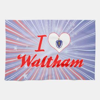 I Love Waltham Massachusetts Towel