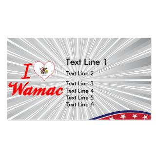 I Love Wamac, Illinois Business Card Template