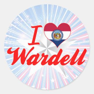 I Love Wardell, Missouri Stickers