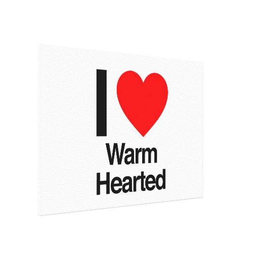 i love warm hearted canvas print
