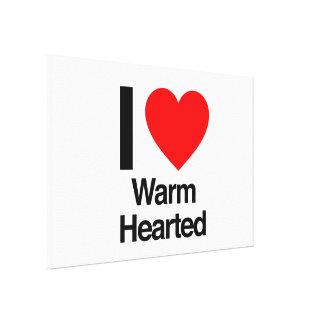 i love warm hearted canvas prints