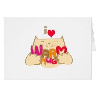 I Love Warm Hugs Greeting Cards