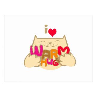 I Love Warm Hugs Postcard