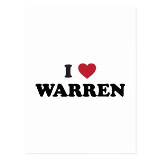I Love Warren Michigan Postcard