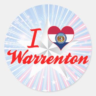 I Love Warrenton, Missouri Round Sticker