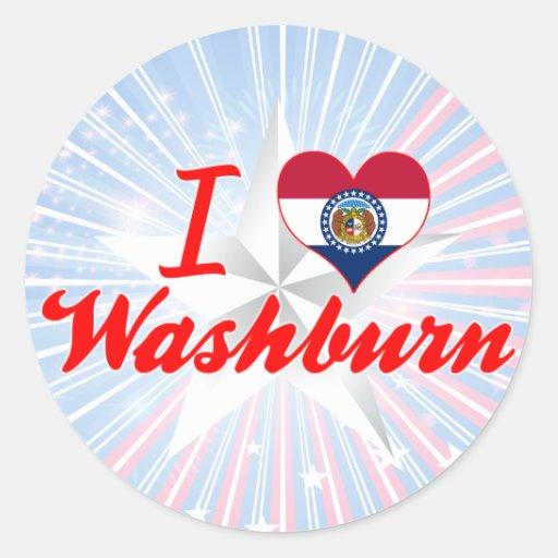 I Love Washburn, Missouri Sticker