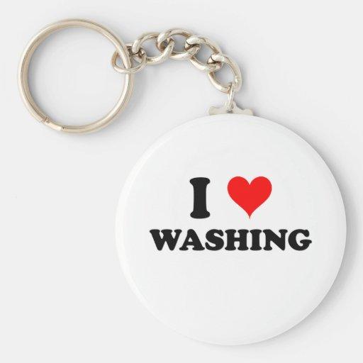 I Love Washing Keychain