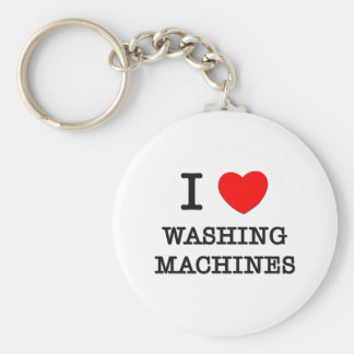 I Love Washing Machines Basic Round Button Key Ring
