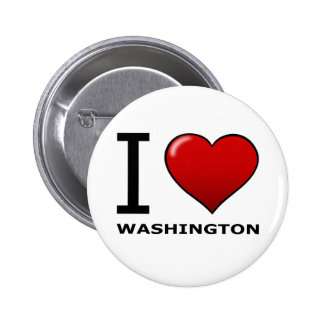 I LOVE WASHINGTON 6 CM ROUND BADGE