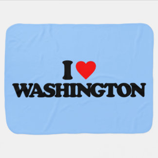 I LOVE WASHINGTON BABY BLANKETS