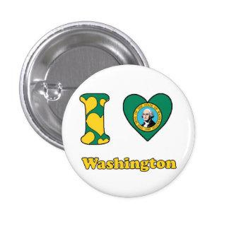 I love Washington Button