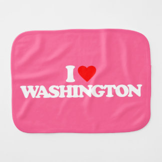 I LOVE WASHINGTON BABY BURP CLOTHS