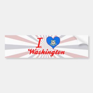 I Love Washington, Connecticut Bumper Stickers