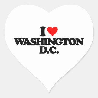 I LOVE WASHINGTON D.C. HEART STICKER