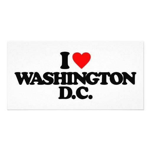 I LOVE WASHINGTON D.C. PHOTO CARD TEMPLATE