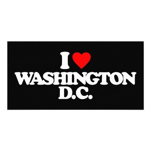 I LOVE WASHINGTON D.C. CUSTOMIZED PHOTO CARD