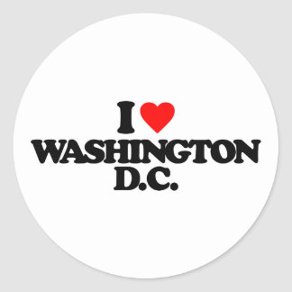 I LOVE WASHINGTON D.C. STICKERS