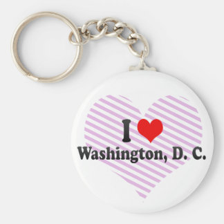 I Love Washington, D. C., United States Key Ring