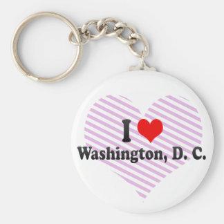 I Love Washington, D. C., United States Basic Round Button Key Ring