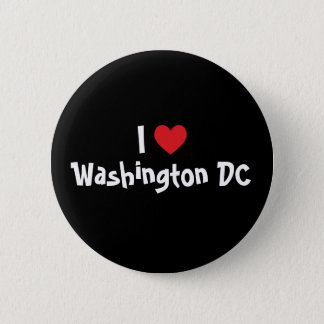 I Love Washington DC 6 Cm Round Badge