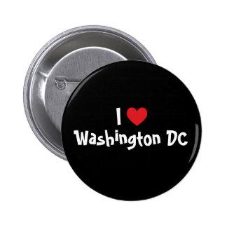 I Love Washington DC 6 Cm Round Badge