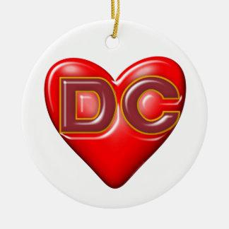 I Love Washington DC Christmas Ornament
